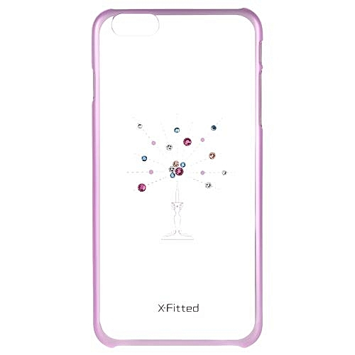 Generic X-Fitted Protective Back Case Plated Bumper Shell Cover With  Swarovski Rhinestone For IPhone 6 Plus 6S Plus d68e5eb4d8