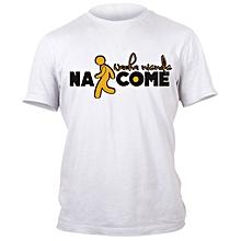Nacome White Printed T-Shirt Design