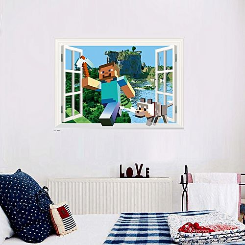 Game running together on the river wall sticker home decor mix color