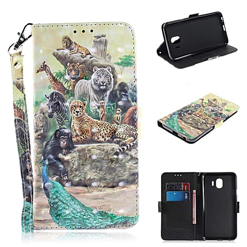 best website dd8c6 3034c for Samsung Galaxy J4 Case, [3D Design] Wallet Case [Wrist Strap] Stand and  Card Slots, PU Leather Smartphone Cover for Samsung Galaxy J4 2018 J400F-  ...