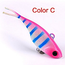 Technologg Fishing  1PC Fishing Lures 6.8cm Plastic Hard Bass Baits 6 Colors Minnow Lures-as Show