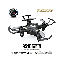 FQ777 951C 2-zoom.4G 4CH 6-Axis Gyro 0.3MP Camera RTF RC Quadcopter Drone Toy-Black