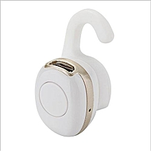 Sport Headsets, Mini Sports Stereo Wireless Headset Bluetooth 4.1 Headphones Bass Earphone Earbud In Ear for Mobile Phone (White Gold)