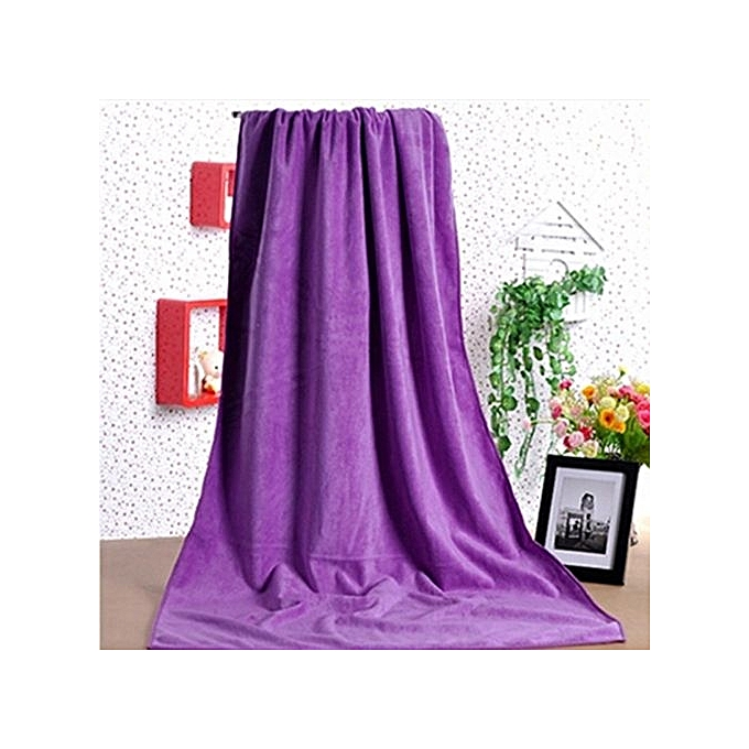 Absorbent Microfiber Towel Bath Quick Drying Washcloth Bath Purple