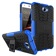 Mooncase Case For Huawei Ascend Y5 II Detachable 2 In 1 Hybrid Armor Design Shockproof Tough Rugged Dual-Layer Case Cover With Built-in Kickstand Blue