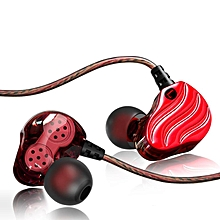 QKZ New Sport Dynamics Driver Bass Stereo In Ear HIFI Earphone with Microphone TIANHUShop
