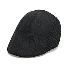 Men Women Mesh Linen Beret Cap Outdoor Sports Golf Cabbie Peaked Hats