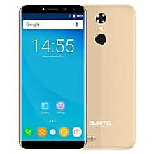 C8 3G Phablet 5.5 inch 2.5D Arc Screen Android 7.0 MTK6580A 1.3GHz Quad Core 2GB RAM 16GB ROM Fingerprint Scanner 8.0MP Rear Camera - GOLDEN