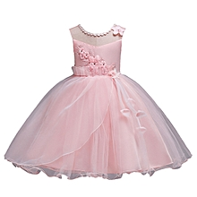 55f39de49 Girls Flower Dresses Princess Wedding Dress Children Clothing Embroidery  Fluffy Tulle Dresses - Pink