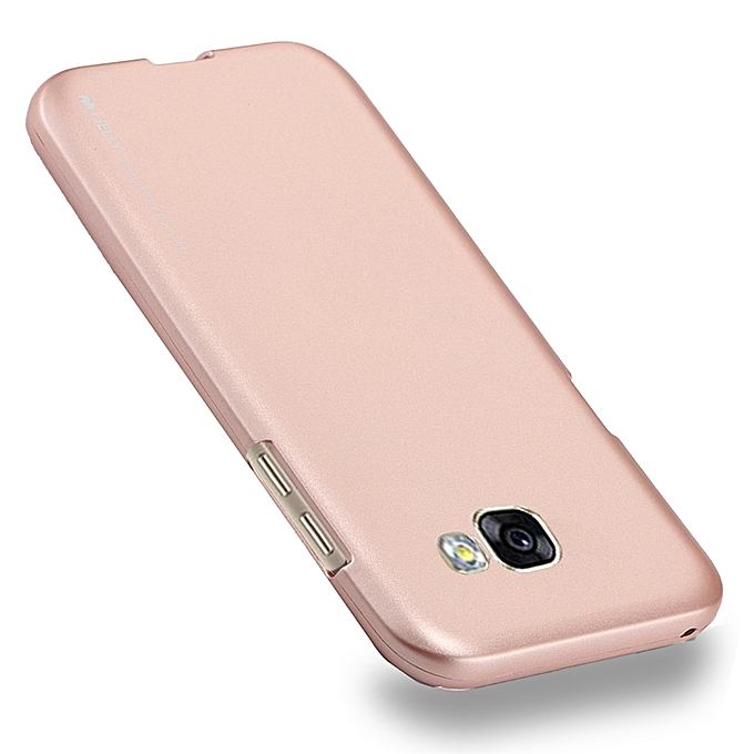 Mercury Goospery I Jelly Metal Series For Samsung Galaxy A5 2017 Full Coverage Tpu Protective Back Cover Caserose Gold