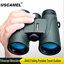 Telescope Binocular 8X42 Folding Portable Travel Outdoor