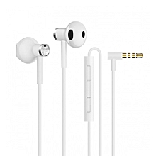 Xiaomi BRE01JY Dual Drivers In-ear Earphone with Microphone Line Control-WHITE