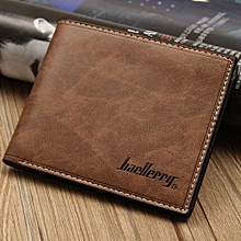 4pcs Simple Fashion Mens Leather Wallet Credit/ID Card Holder Slim Coin Purse Pocket Coffee