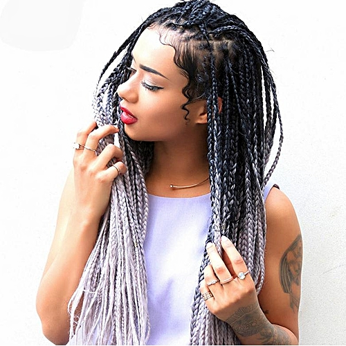 Buy Generic Great Dirty Wig Female Color Gradient Small Braid