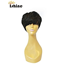 Halloween Party Wig For Women Short Straight Hair Black Wig