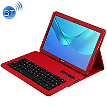 Detachable Bluetooth Keyboard + Litchi Texture Horizontal Flip Leather Case for Huawei MediaPad M5 Pro / M5 10.8 inch, with Holder(Red)