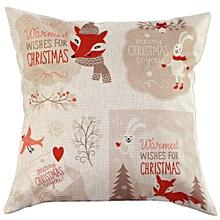 Vintage Christmas Sofa Bed Home Decor Pillow Case Cushion Cover