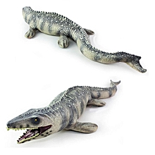 "17.72"" Lifelike Shape Animal Mosasaurus Dinosaur Model Cretaceous Period Kid Toy"