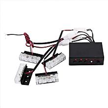 12V 4x3LED Strobe Flash Light Emergency Warning Auto Police Strobe Beacon Lamp 3 Modes White