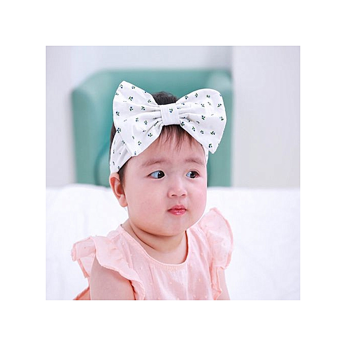 deb7e7027b1 ... Kids Baby Flower Floral Hairband Turban Bowknot Headband Headwear Hair  Band WH -White ...