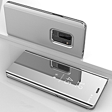 CO For Samsung Galaxy S9 Plus Cover Soft PU Leather Slim Protective Shell-silver