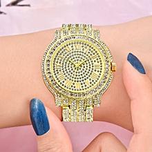 Brand Luxury Women Dress Watch Rhinestone Ceramic Crystal Quartz Watches