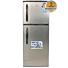 BRD140 - Double Door Refrigerator - 6.5Cu.Ft - 120 Litres - Silver.