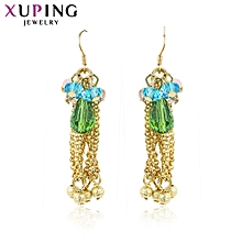 XUPING 14K fashion Crystal  Earrings-Gold