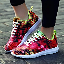 bluerdream-Unisex Women Men Casual Sneakers Sports Running Breathable Camouflage Shoes- Red_CN SIZE