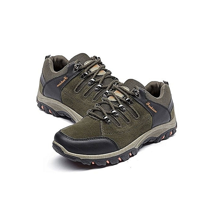 8f2b5579040 UJ Outdoor Climbing Hiking Shoes Mountaineering Boots Running Sports-Army  Green