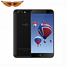 AllCall Atom 4G Mobile Phone 5.2'' HD 2.5D Curved Screen Dual Rear Cam Android 7.0 MTK6737 Quad Core 2GB+16GB 8MP Phone - Black