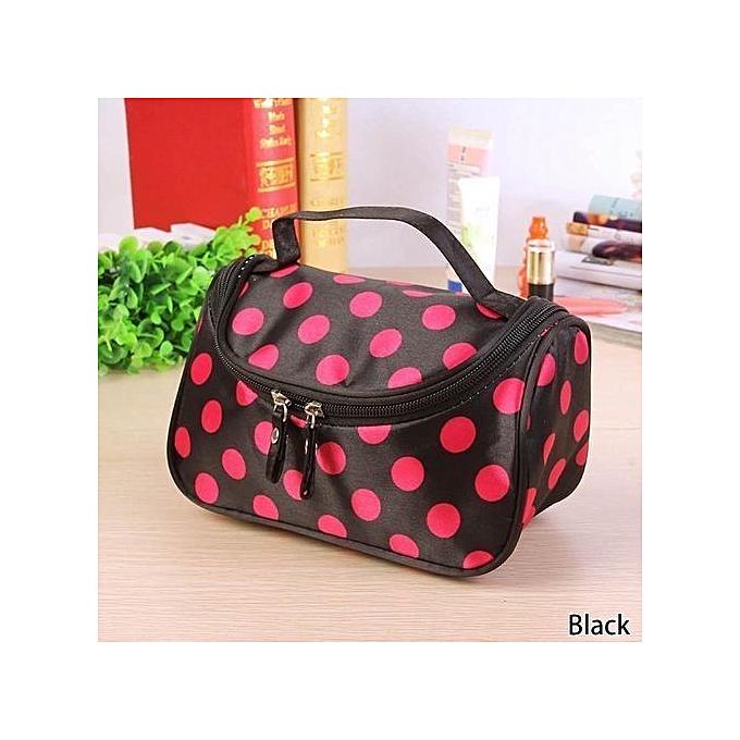 8c12584c2627 Fashion Dot Toiletry Bag Cosmetic Bag Large Capacity Portable Organizer  Women Makeup Bags Storage Travel Bags