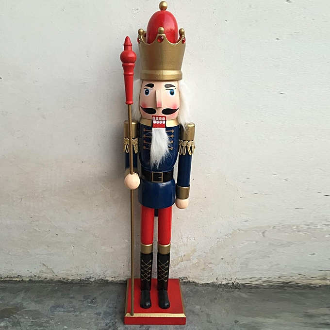 ... 60cm Nut Cracker Soldier Christmas Decoration Nutcrackers Xmas Kitchen Wooden type2