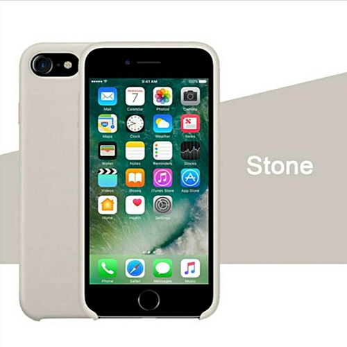 release date e772c 148f2 for iPhone 7 8 phone case Have LOGO Official Style Silicone Case For apple  Cover Capa-Stone