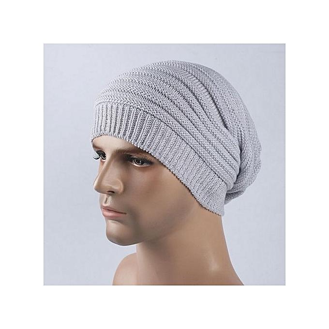 1fc2673b697 Eissely Mens Cashmere Winter Crochet Hat Ski Knit Warm Cap   Best ...