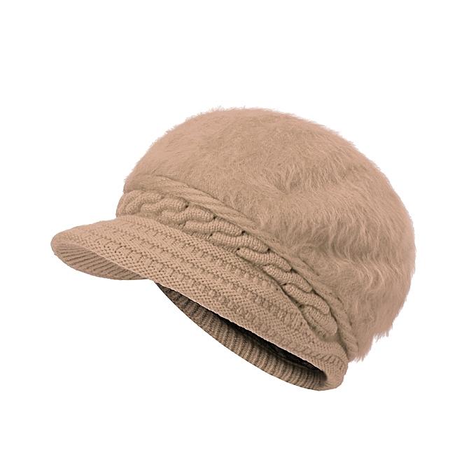 Womens Knitted Woolen Stripe Beanie Cap Elegant Ladies Hats Fashionable  Comfortable Caps 9799cbaee13
