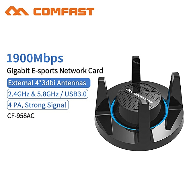 RTL8814AU 802 11 b/g/n/AC 1900Mbps Gigabit USB3 0 5 8Gh Wireless WiFi  Adapter 4x 3dBi WiFi Antenna for Windows 7/8/10( )