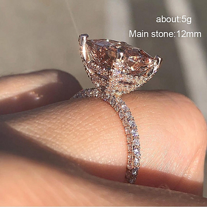 2452a1b1a2b New Stylish Square Sparkling Zircon Rings Luxurious Diamond Women Ring  Jewelry