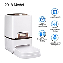 6L 4 Meals Automatic Pet Feeder - White