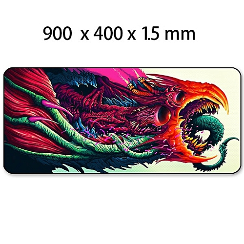 14312754c6f Generic Game 900x400mm Hyper Beast XL Large Locking Edge Gaming Mouse Pad  CS GO Keyboard Rubber Mousepad Wrist Rest Table Computer Mat