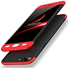 GKK for OnePlus 5 PC Three - paragraph Shield 360 Degrees Full Coverage Protective Case Back Cover (Black + Red)