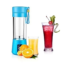 Portable Blender Juicer Cup / Electric Fruit Mixer / USB Juice Blender, Rechargeable,Blades In 3D For Superb Mixing, 380mL