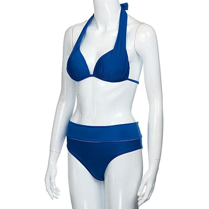 3e9ef965ff douajso Women Push Up Padded Bra Bikini Set Swimsuit Swimwear Bathing Suit