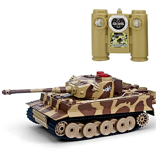 518 1/24 RC Tank IR Remote Control Toys Simulation Infrared Battle Tank  Yellow