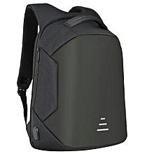 "09df31fa4bb Anti-Thief Waterproof External USB Charge 16"" Laptop Backpack - Black"
