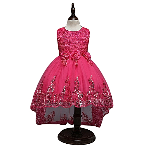 8fc76e4fa1a Fashion Baby Girl Dress Children Kids Dresses For Girls 2 3 4 5 6 7 8 9 10 Year  Birthday Outfits Dresses Girls Evening Party Formal Wear-rose