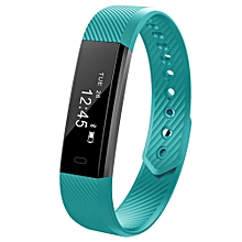 ID115 Smart Bracelet with Fitness Tracker, Passometer - Green