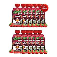 Strawberry Juice Slush Drink - 200ml - 24 Pack - Red