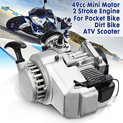 49cc 2 Stroke Pull Start Engine Motor For Pocket Bike Mini Dirt Bike ATV  Scooter