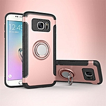 KZ Slim Fit Hybrid Dual Layer Armor Shock Absorption Rugged Defender with Ring Holder Kickstand Drop Protection Soft Rubber Bumper Case Cover for Samsung Galaxy S7 Edge   XXZ-Z